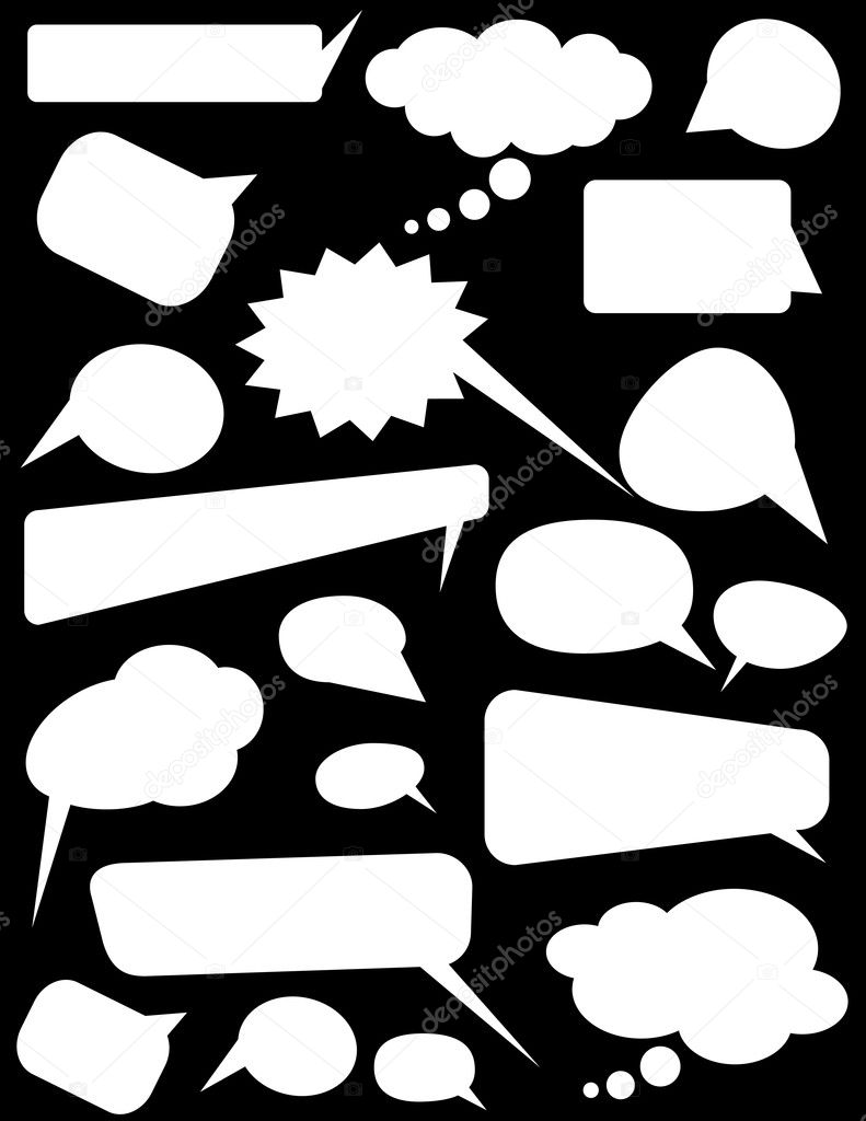 Creative Abstract Design Of White Shape Speech Bubbles — Stock Vector #6904787