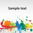 Royalty-Free Stock Vector Image: Colorful Paint Splashes