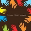 Royalty-Free Stock Vector Image: Collection Of Colorful Hands