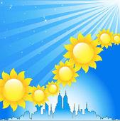 Sfondo luminoso soleggiato — Vettoriale Stock