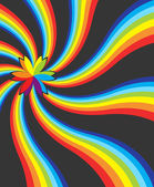 虹にカラフルな芽 — ストックベクタ