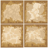 Collection Of Overlay Texture — Stock Vector