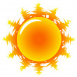Orange Hot Sun Illustration - Stock Vector