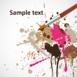 Paintbrush With Color Splash — Stock Vector #7132688