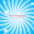 Elegant Bubbles Sunburst Background - Stock Vector