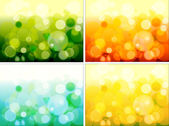 Colorful Set Of Blur Sparkles — Stock Vector