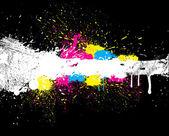 Krásný barevný nátěr šplouchání — Stock vektor