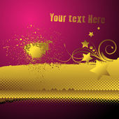 Elegant Golden Style Swirl Halftone Background — Stock Vector