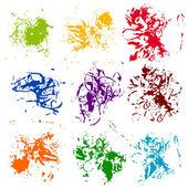 Ensemble de dessins colorés de texture — Vecteur