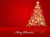 Beautiful Glazed Christmas Tree — Stock Vector