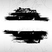 Vignette Grunge Brush Strokes — Stock Vector