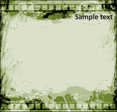 Grunge Film Strip with Vintage Background — Stock Vector