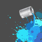 Color Pour From Silver Bucket — Stock Vector