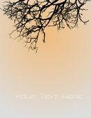 Galhos de árvore morta no fundo vintage — Vetor de Stock