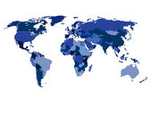 Ilustração de mapa mundo isolado — Vetorial Stock