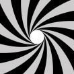 Twisted Sunburst with White Hole — Stock Vector #7243159