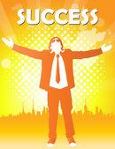 счастливый бизнесмен — Cтоковый вектор