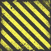 Žluté pruhy na pozadí grunge rezavý — Stock vektor