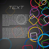 Kleurrijke ringen bedrijf banner — Stockvector