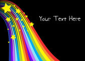 Hvězdy na pozadí rainbow — Stock vektor