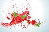 весна красная роза с вкраплениями — Cтоковый вектор