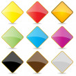 Stock Photo: Colorful Shiny Square Labels