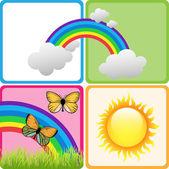 Beautiful Kiddies Background Set — Stock Photo