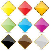 Colorful Shiny Square Labels — Stock Photo
