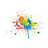 Color Paint Splashes White Background — Stock Photo
