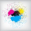 Stock Vector: Colorful Ink Splatter