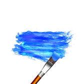 Verniciatura con colore blu — Vettoriale Stock