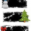 Beautiful Christmas Designs — Stock Vector