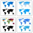 Set of Decorative World Maps — Stock Vector #7356689