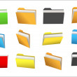 Stock Vector: Colorful Folders