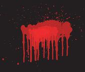 赤のスプラッシュ — ストックベクタ