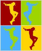 Dance Move Shape — Wektor stockowy