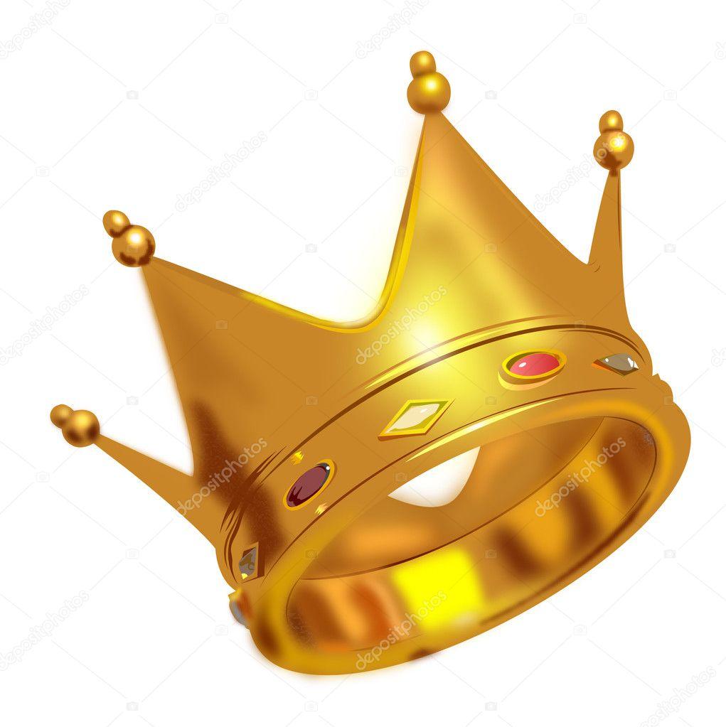 Kings Crown Design Golden king crown - stock