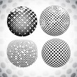 Embossed Grunge Halftone Sphere — Stock Vector