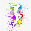 Royalty-Free Stock Vector Image: Dance Movement on Abstract Background