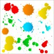 Stock Vector: Colorful Paint Drops Set