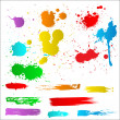 Stock Vector: Color Splatters