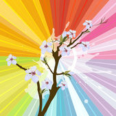 Flower Branch — Stock Vector
