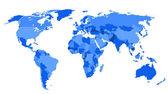 Conceptual World Map — Stock Vector
