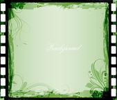 Decor Design of Swirl Element Grunge Background — Stock Vector