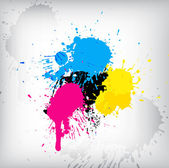 CMYK Color Splash — Stock Vector