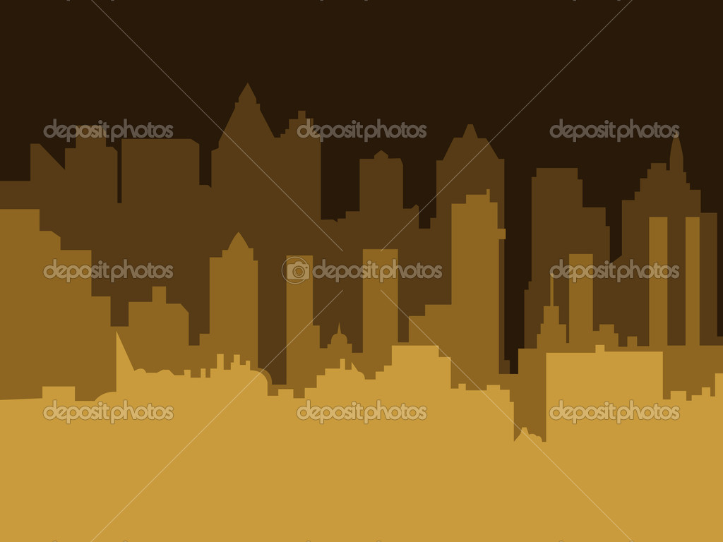Conceptual Artistic Decor Design of Industrial Skylines Shapes  Stock Vector #7583678
