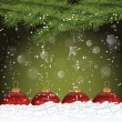 图库矢量图片: Abstract Christmas Background with Snowfall
