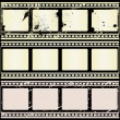 Retro Film Strips - Stock Vector