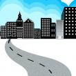 Royalty-Free Stock Vector Image: Way of Modern City