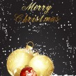 Decor Golden Christmas Ball Background — Vettoriali Stock